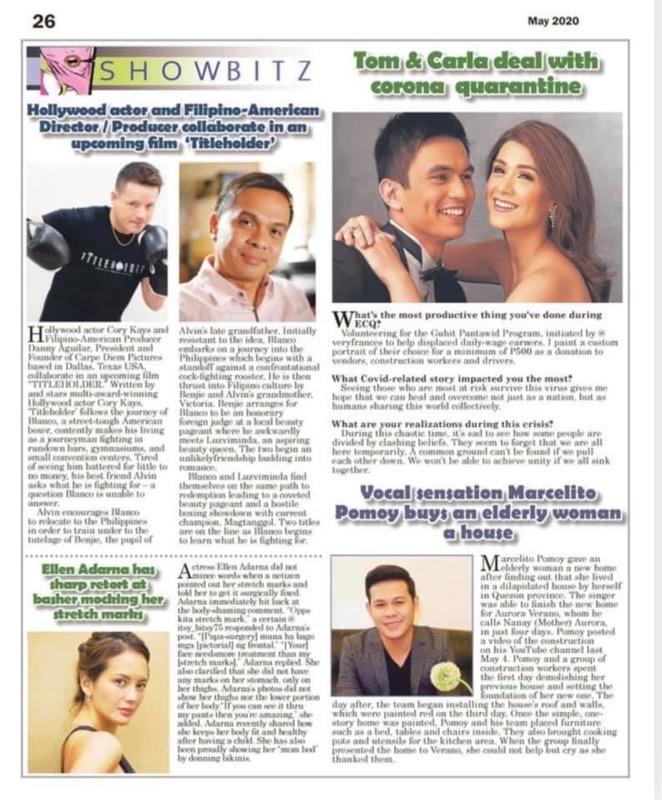 Titleholder - Showbitz (Inquirer)